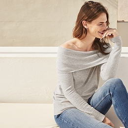 Bardot Off Shoulder Sweater