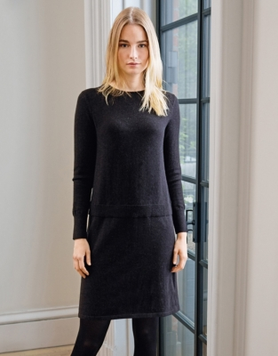 Button Back Knitted Dress