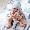 Hydrocotton Hooded Bear Ears Towel - Blue