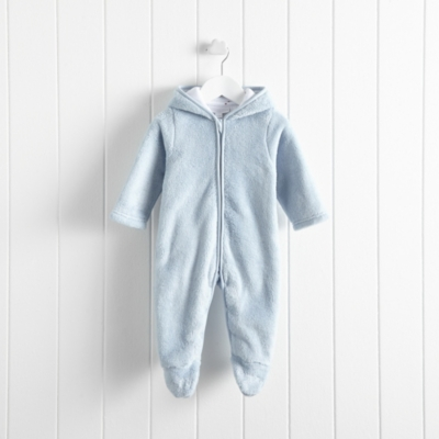 Boys Bear Fleece Romper