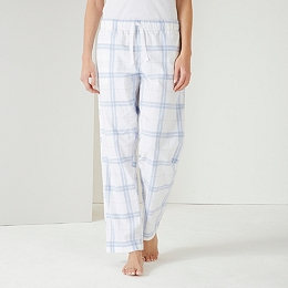 Large Check Flannel Pajama Bottoms