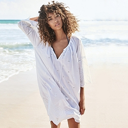 Broderie Beach Cover Up