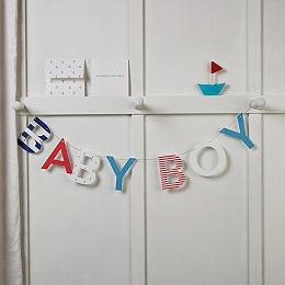 Baby Boy Bunting Card