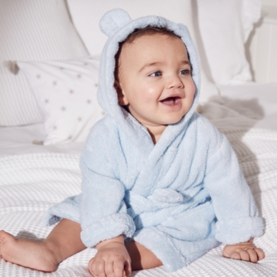 Hydrocotton Baby Robe - Blue