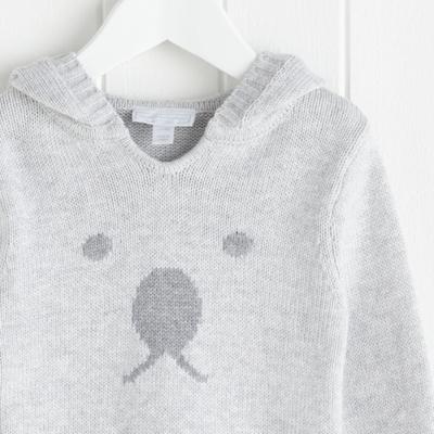 Bear Face Sweater - Soft Gray