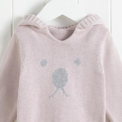 Bear Face Sweater - Pink
