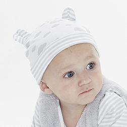 Cloud Bear Ears Hat - Grey