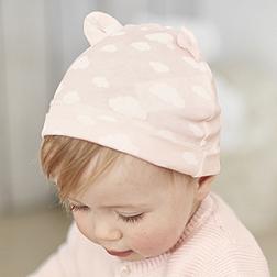 Cloud Bear Ears Hat - Pink
