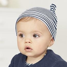 Stripe Bear Ears Hat