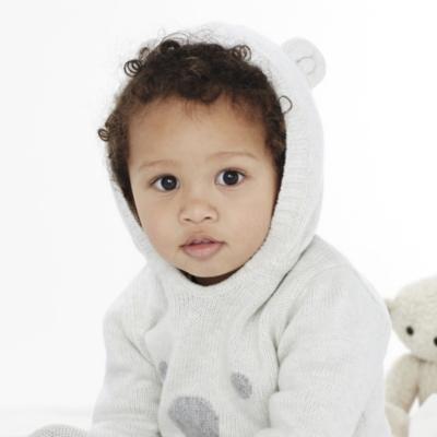 Unisex Baby Bear Face Hoodie