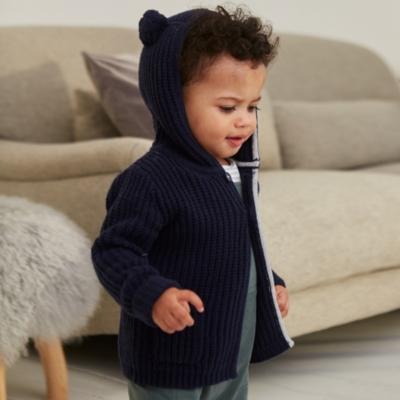 Bear Ears Knitted Coat - The White Company
