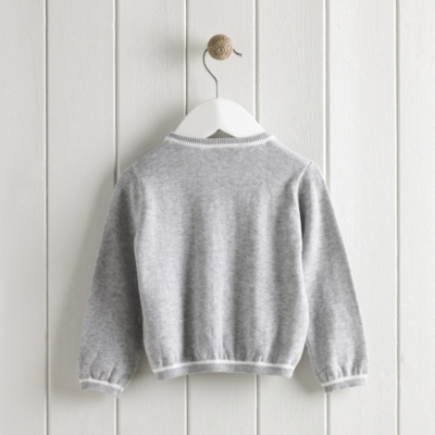 Contrast Tipped Cardigan