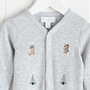 Little Warrior Bear Embroidered Sleepsuit