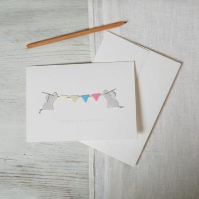 Elephant Bunting Card