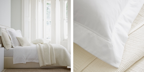 Beaufort Bed Linen Collection - White