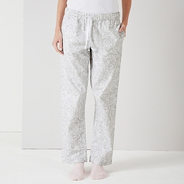 Floral Print Flannel Pajama Bottoms