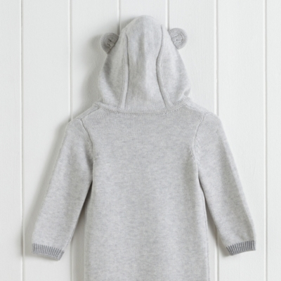Bear Face Hooded Romper