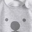 Bear Face Jersey Bib - Ecru