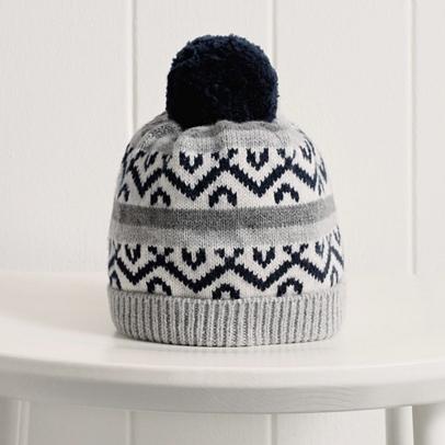 Baby Boys Fairisle Bobble Hat | The White Company US