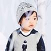 Baby Boys Fairisle Bobble Hat