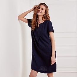 Linen Bib Front Dress