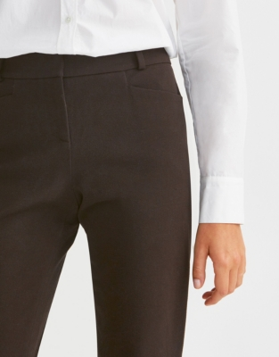 Oxford 4 Way Stretch Pants - Chocolate