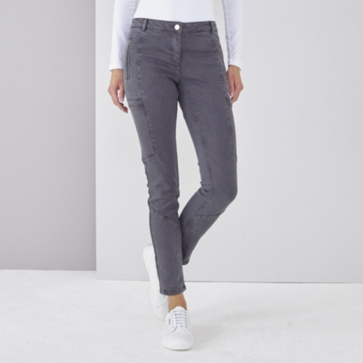 Biker Jeans - Dark Gray
