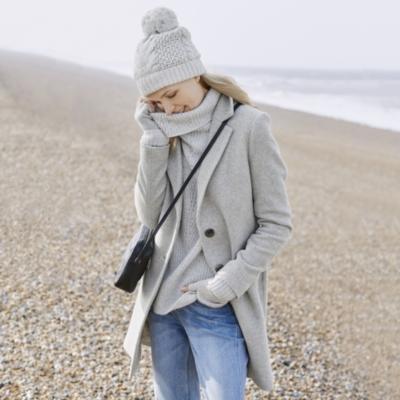 Blurred Herringbone Coat