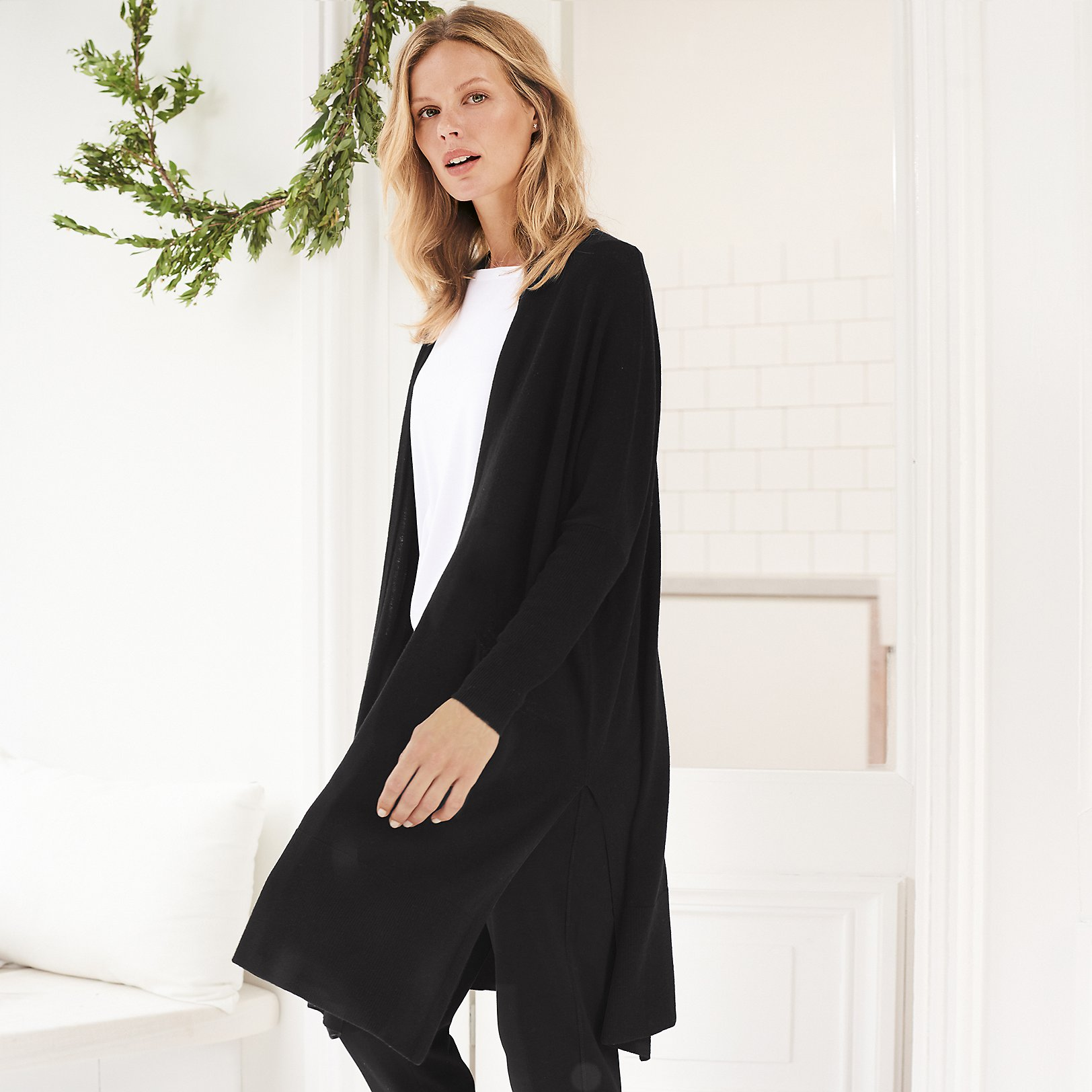 Wool-Cashmere Long Cardigan | Cardigans | The White Company UK