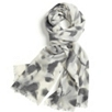 Blurred Leaf Print Scarf
