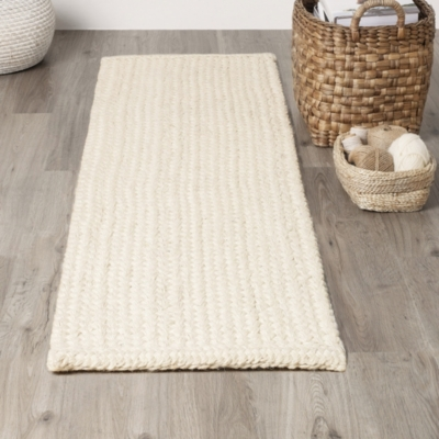 Bleached Jute Braided Runner