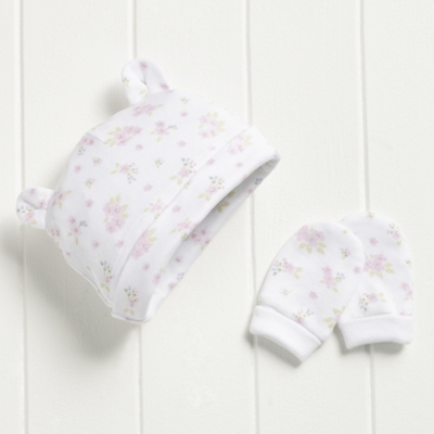 Blossom Hat & Mitts Set
