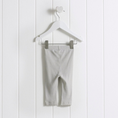Baby Rib Leggings - Dove Grey