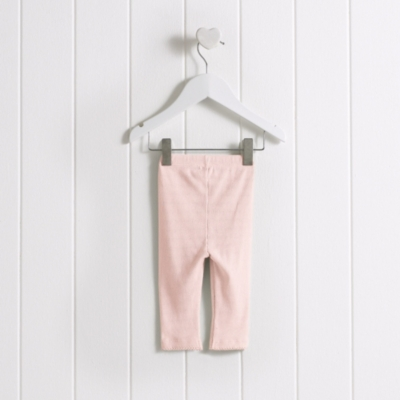 Baby Rib Leggings - Pale Pink