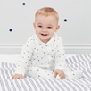 Blue Star Velour Sleepsuit