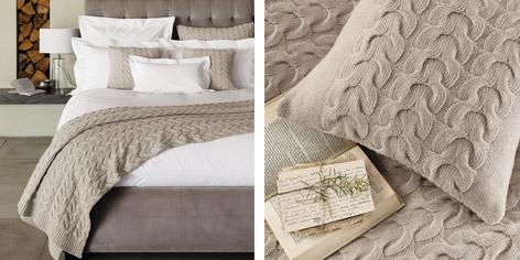 Burlington Throw & Cushion Covers - Natural