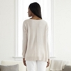 Boat Neck Drop Shoulder Sweater - Champagne