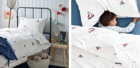 Boat Print Bed Linen