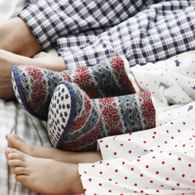 Boys Fairisle Slippers