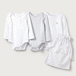 Bodysuit Baby Gift Set - Set of 3