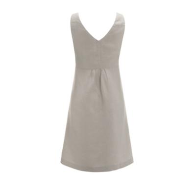 Linen Pleat Bodice Dress