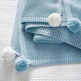 Pom-Pom Baby Blanket