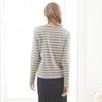 LS Breton Stipe Rib T- shirt - GrayWhite