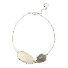 Labradorite & Chalcedony Silver Bracelet