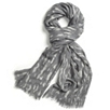 Brushed Ink Print Scarf - GrayWhite
