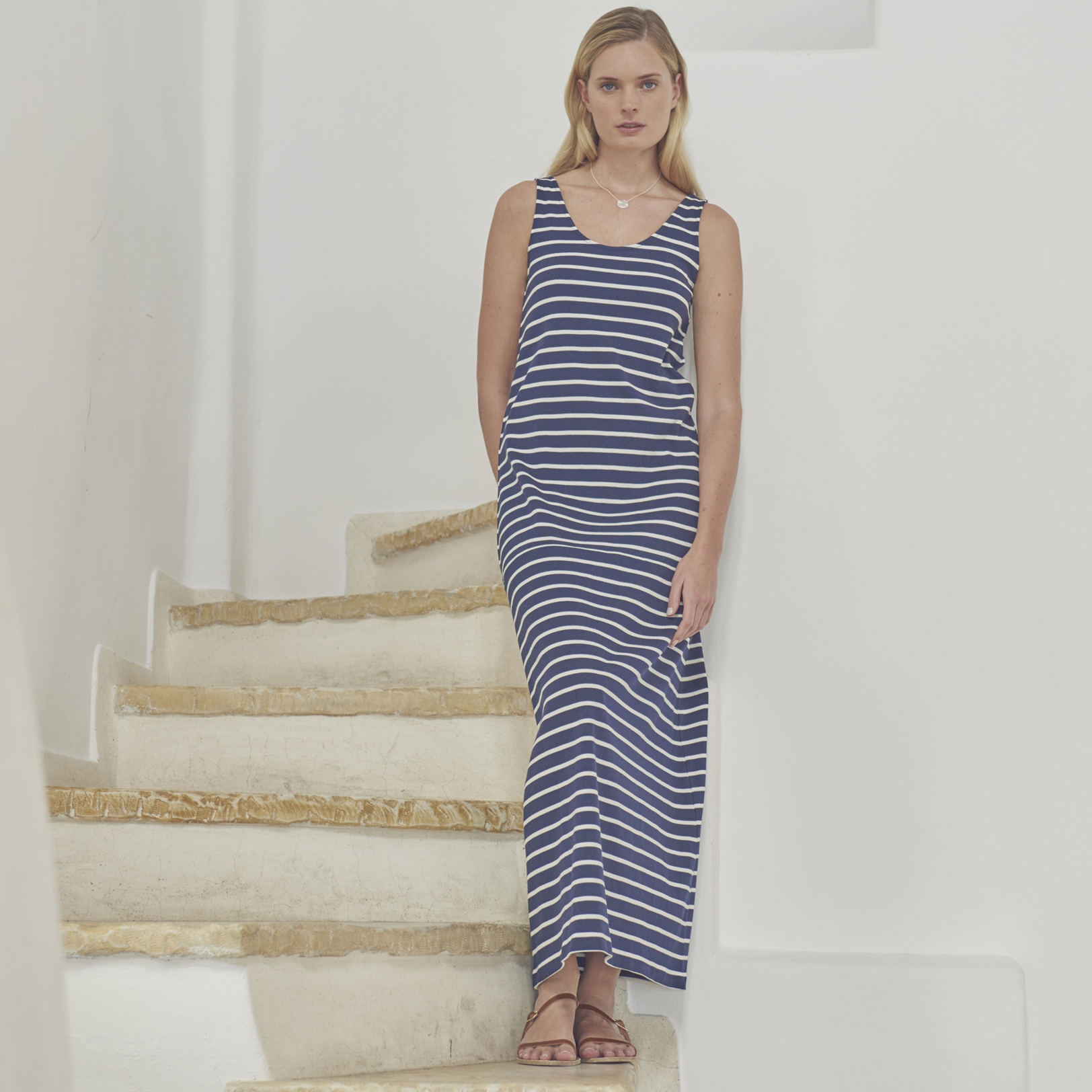 Breton Stripe Maxi Dress | Summer Stripes | The White Company UK