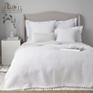 Brittany Quilt King - White Gray