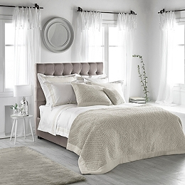 Brompton Bed Linen Collection White Natural