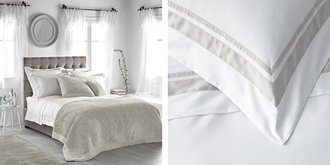 Brompton Bed Linen Collection - Natural