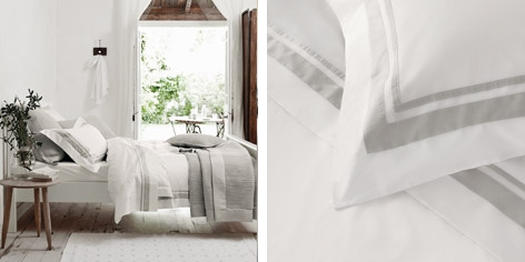 Brompton Bed Linen Collection - Silver